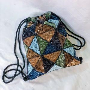 Beaded Sequin Mini Backpack